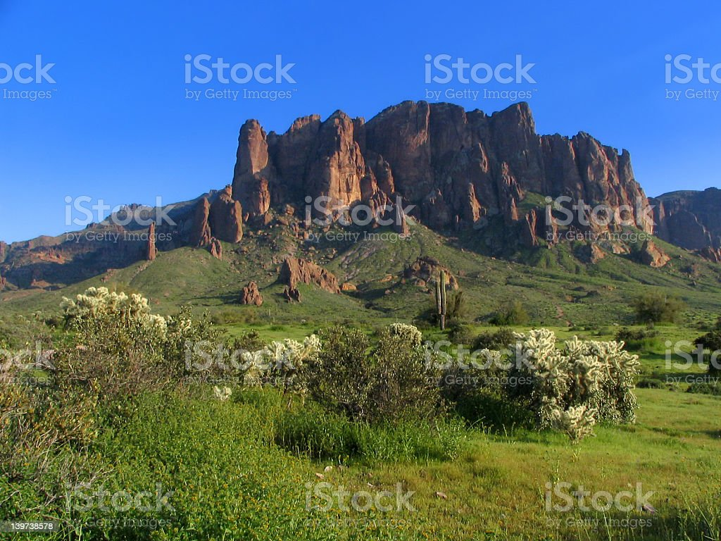 Superstition Mountains royalty-free stock photo