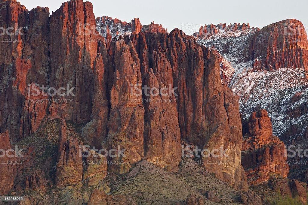 Superstition Neve molto forte primo piano foto stock royalty-free