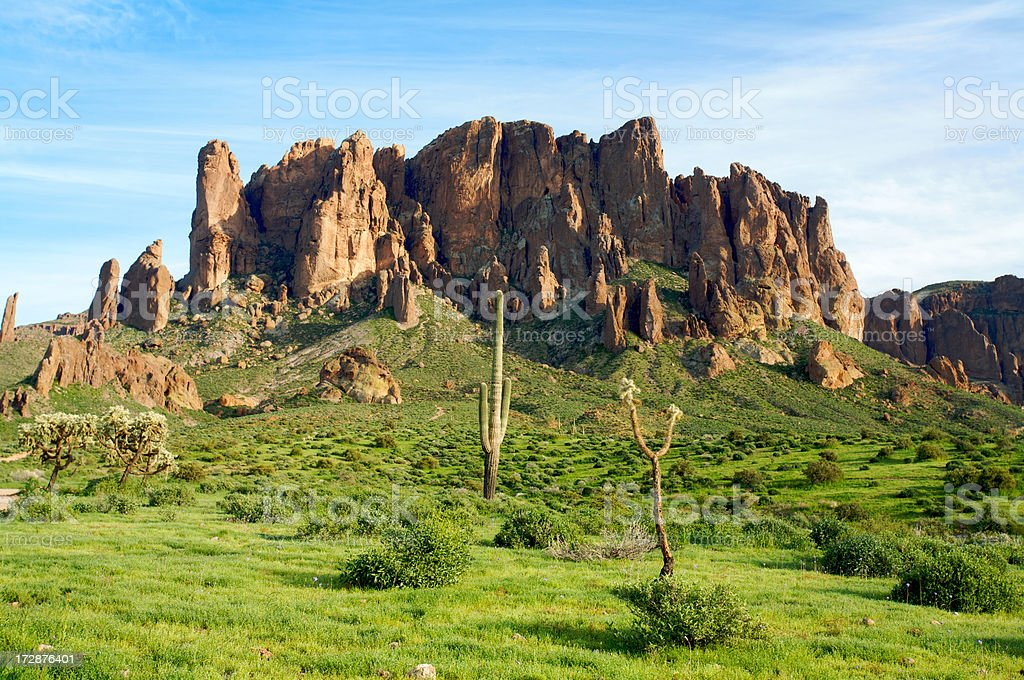 Superstitions in Arizona royalty-free stock photo