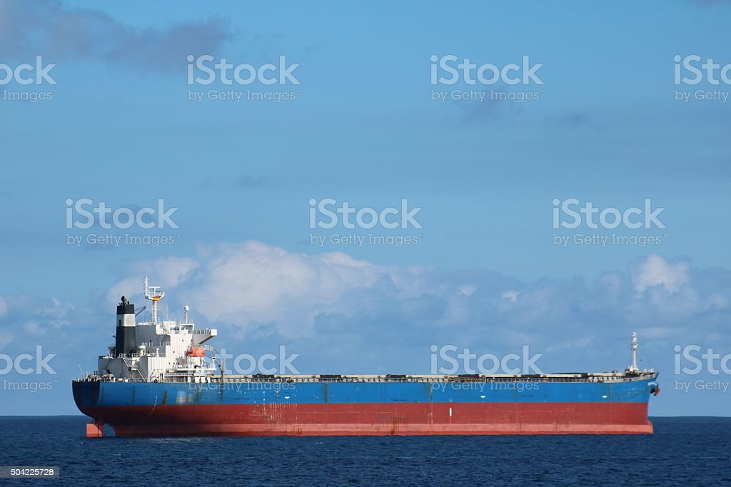 Supertanker at sea stock photo