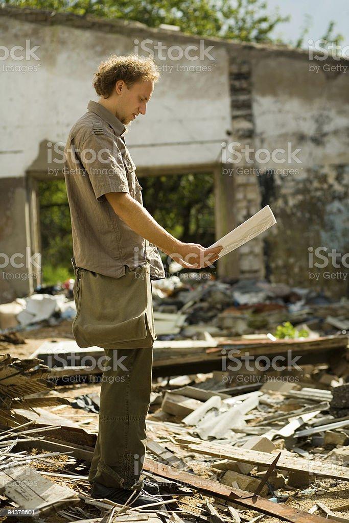 Supervising engineer royalty-free stock photo