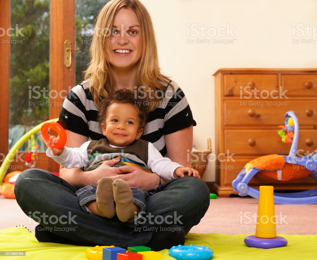 Supervision During Playtime stock photo
