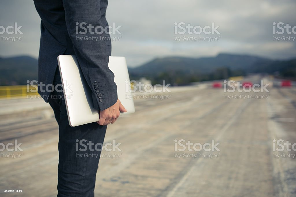 Supervision Of Road Construction And Renovation Works stock photo