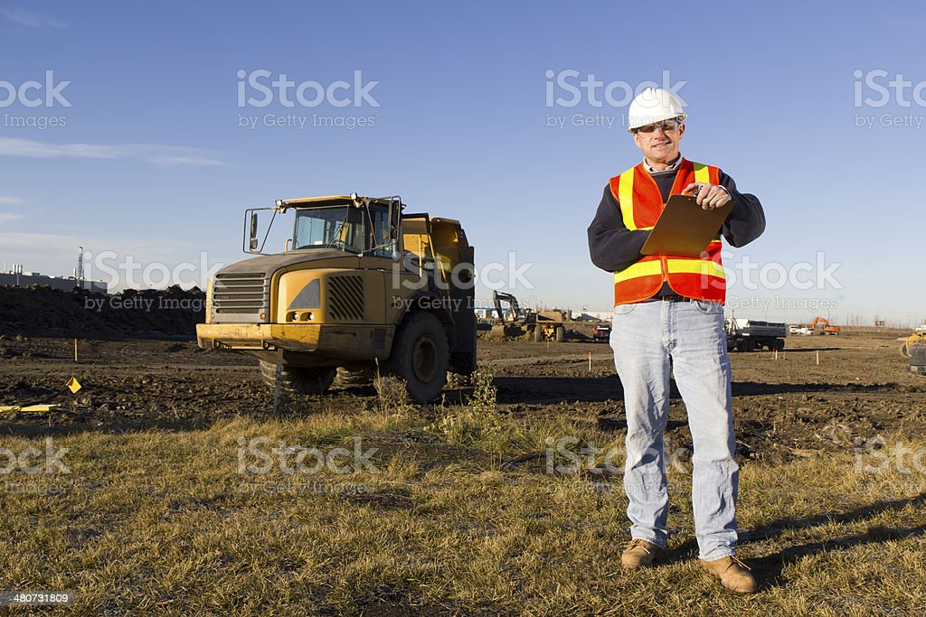 Supervisor at a Construction Site royalty-free stock photo