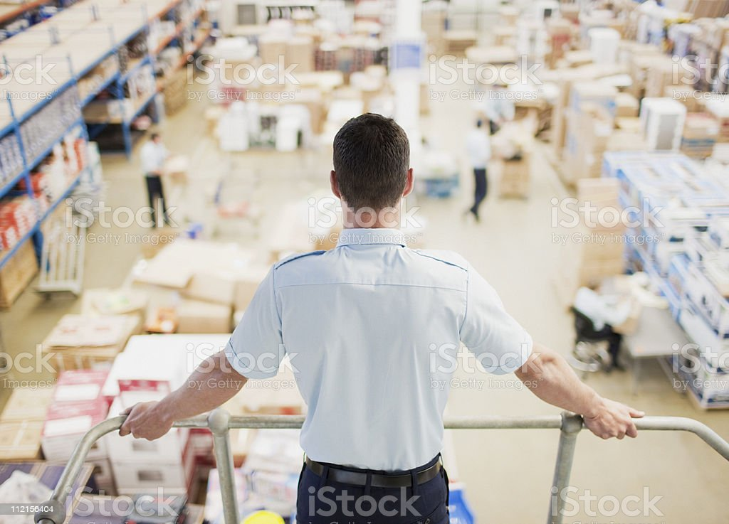 Supervisor  monitoring shipping work stock photo