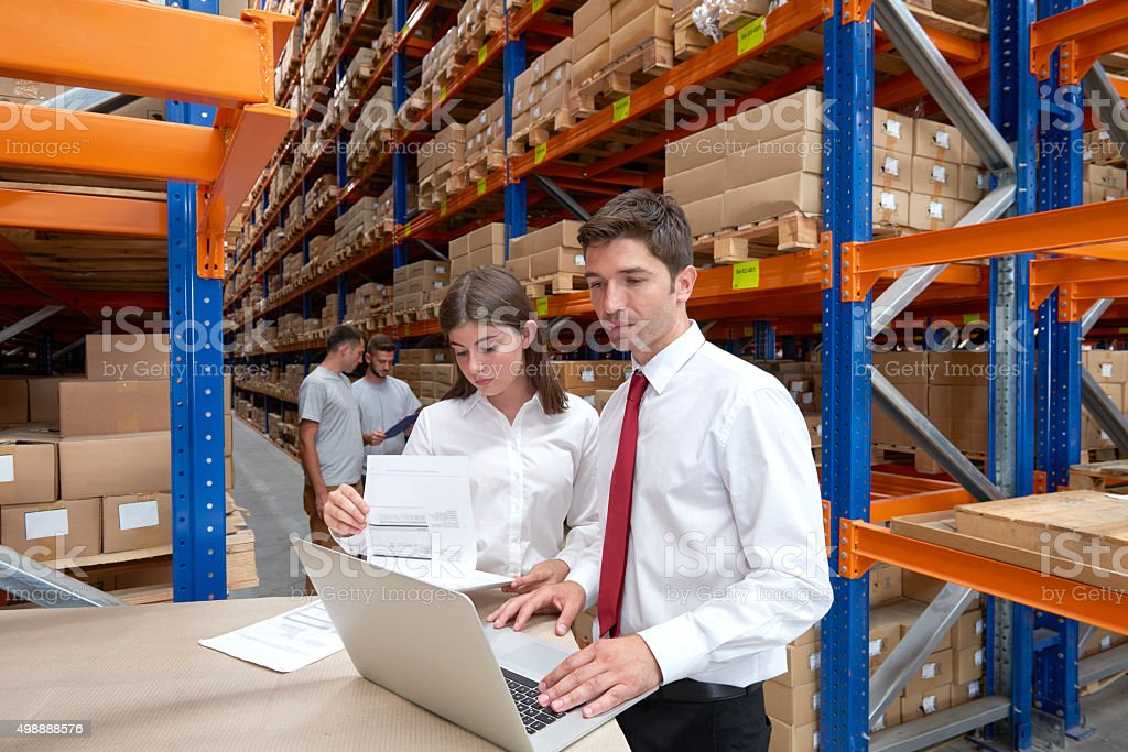 Supervisors in warehouse stock photo