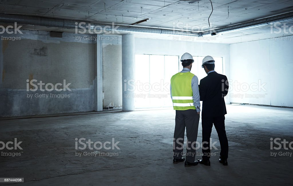 Supervisors on site stock photo