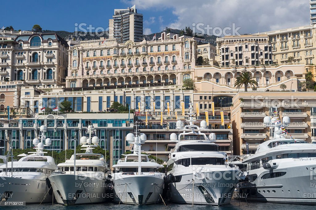 Superyachts At Monaco Yacht Show stock photo