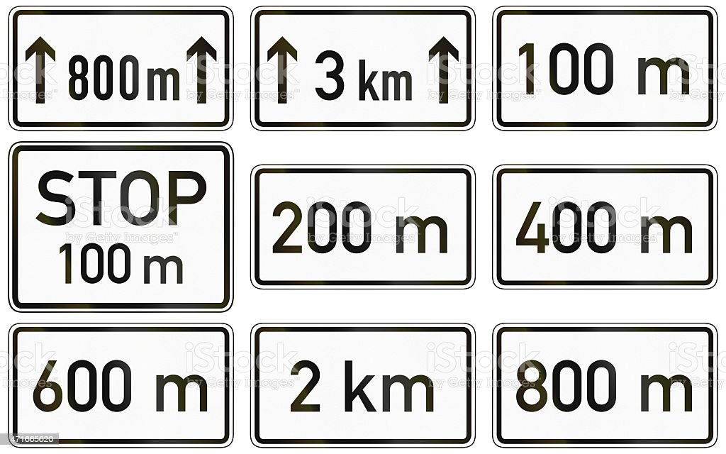 Supplemental Distances In Germany stock photo
