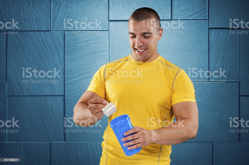 Supplementing proteins royalty-free stock photo