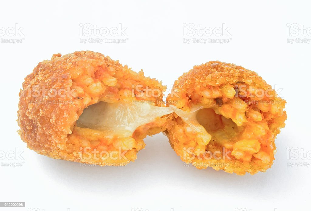 Suppli - rice balls isolated stock photo