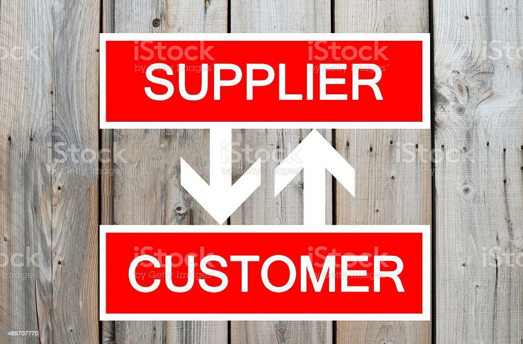 Supplier and customer cycle stock photo