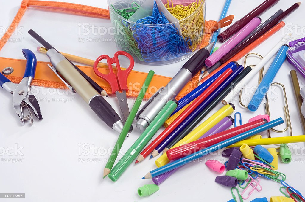 Supplies for back to school use royalty-free stock photo