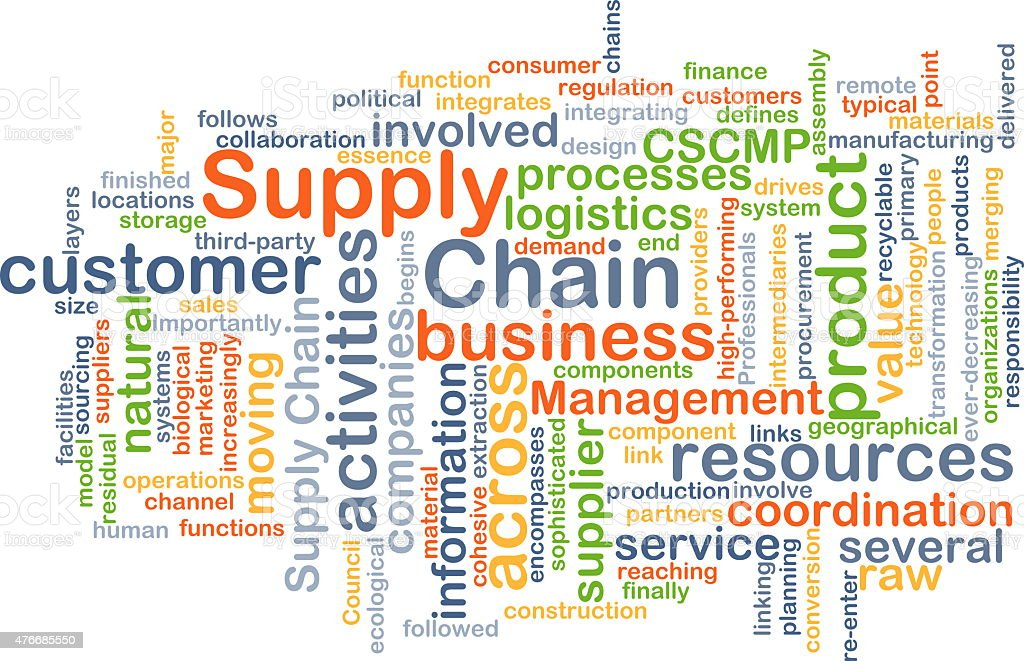 Supply chain background concept stock photo
