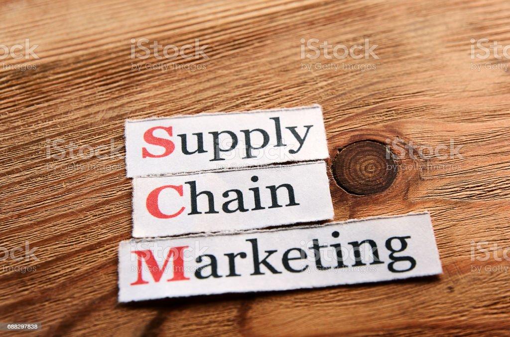 SCM Supply Chain Marketing stock photo