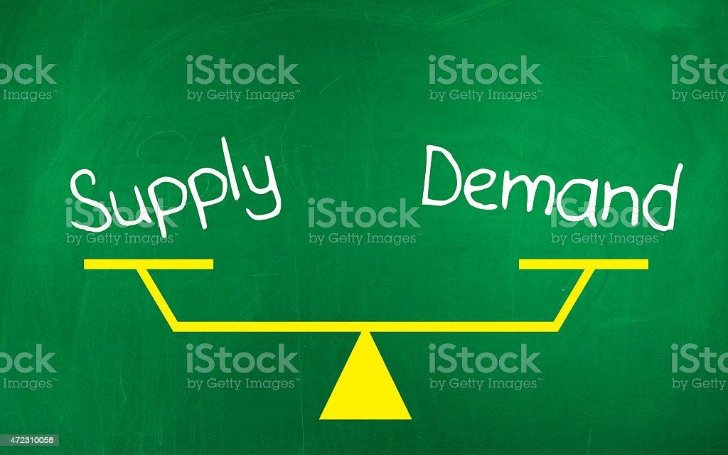 Supply Demand stock photo