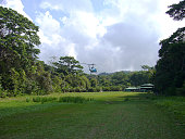 Supply of food by helicopter in the natural park corcovado