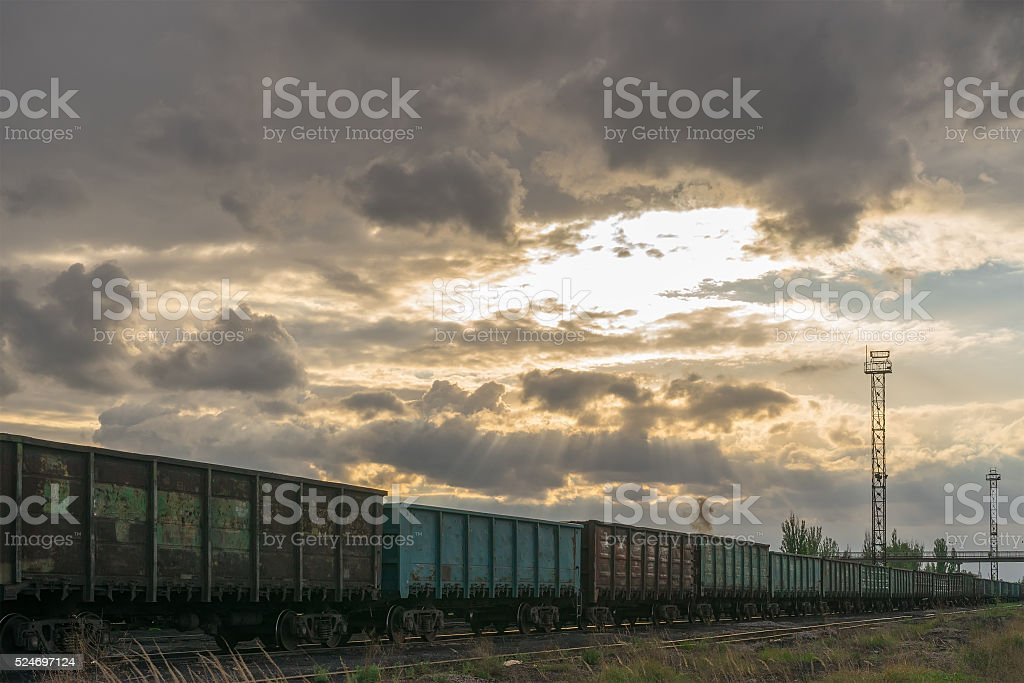 Supply of fuel for coal power plant stock photo