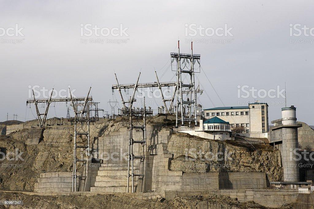 Supply staton of Hidrogenic Power plant royalty-free stock photo