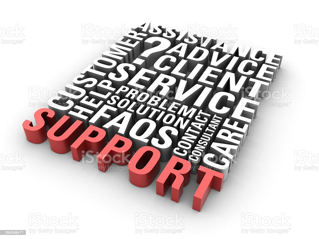 Support concept of various support related words royalty-free stock photo
