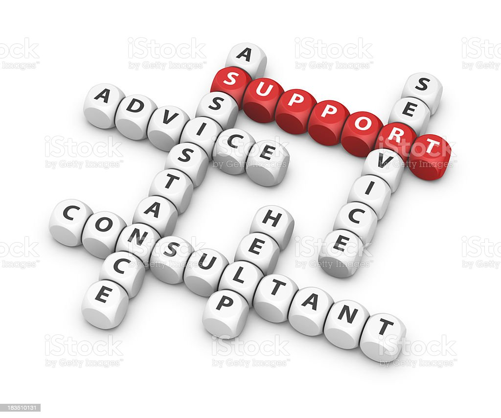 support crossword royalty-free stock photo