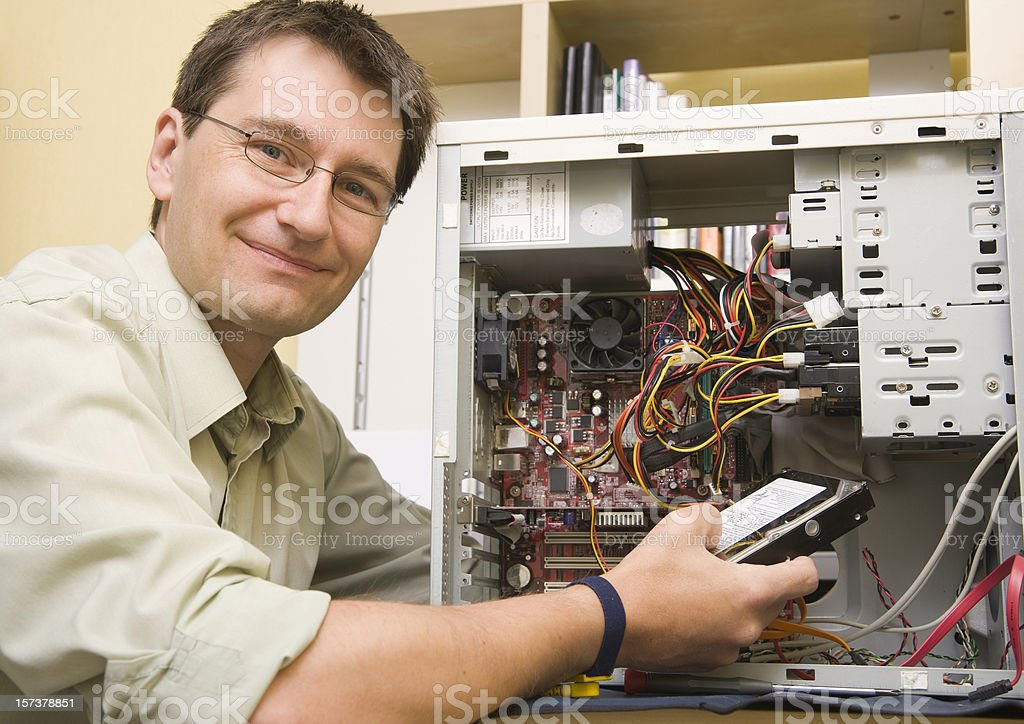 IT Support Engineer royalty-free stock photo