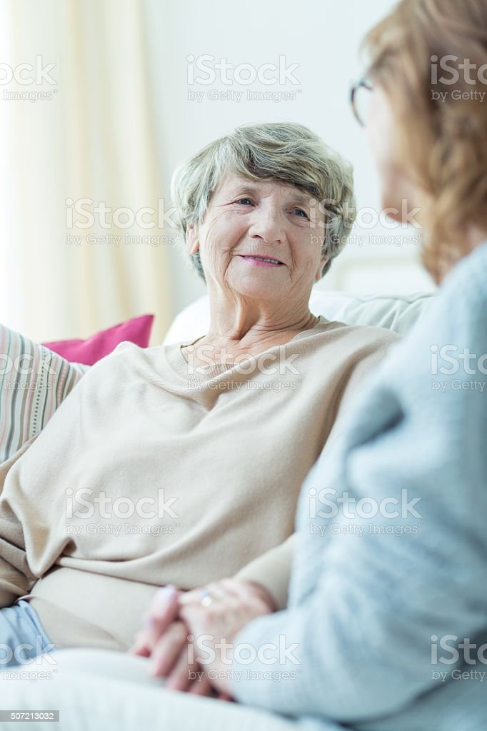 Support for old woman stock photo
