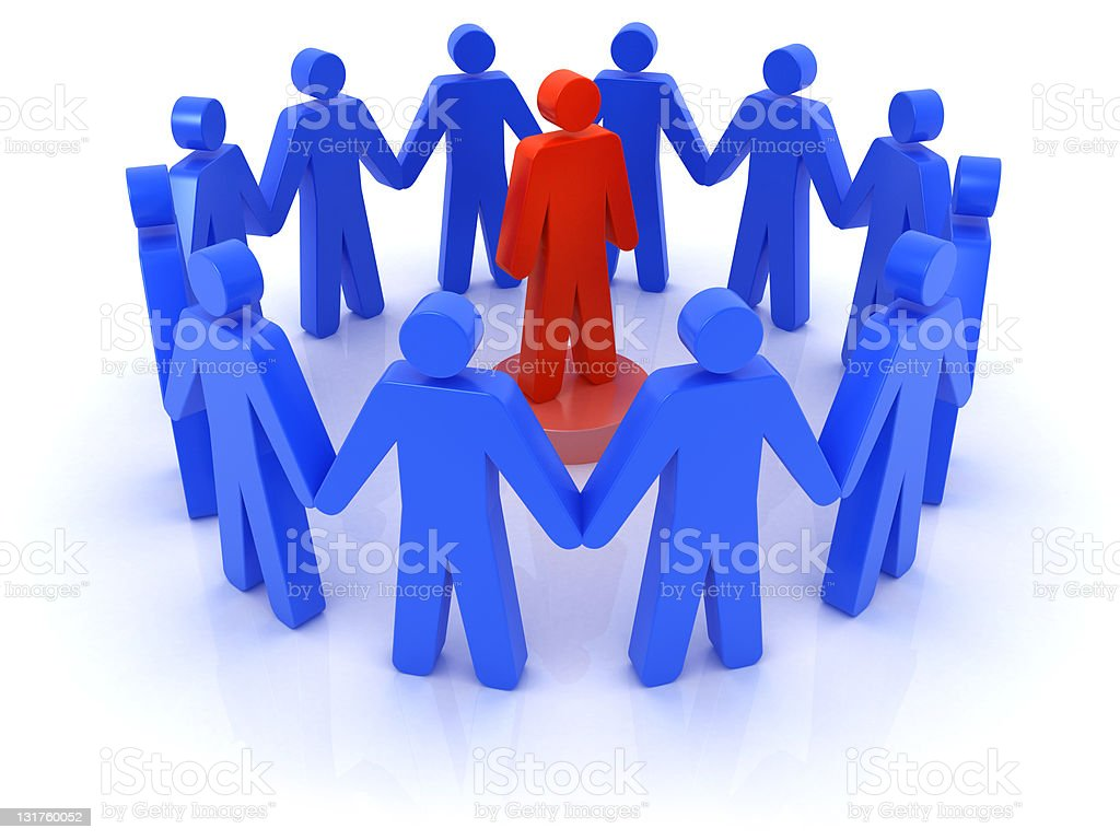 Support group stock photo