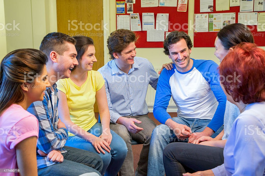 Support Group Success stock photo