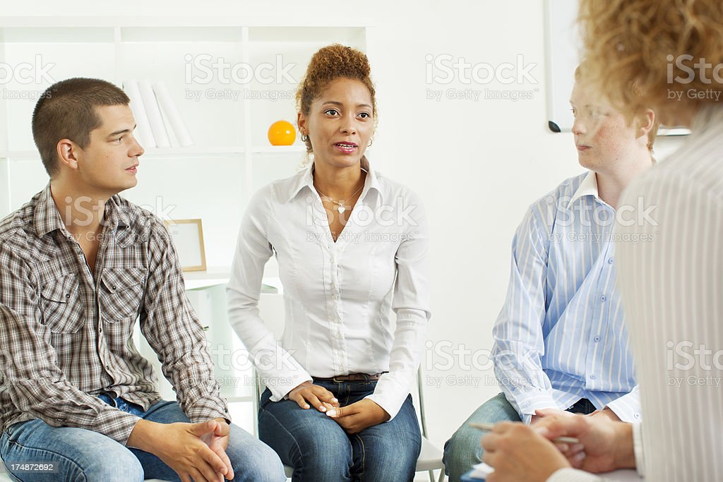 Support Group Therapy Session royalty-free stock photo