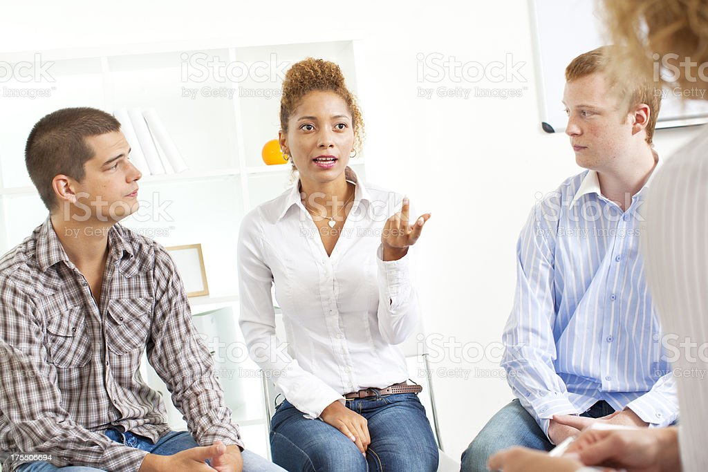 Support Group Therapy Session. royalty-free stock photo