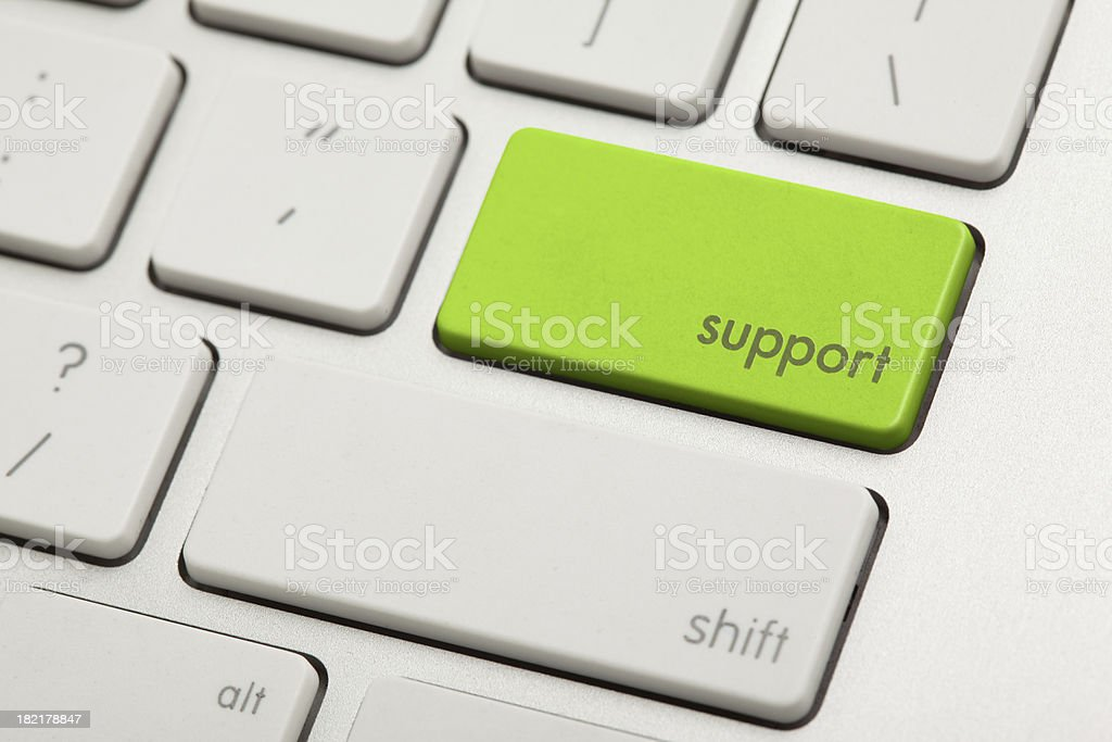 Support Key royalty-free stock photo