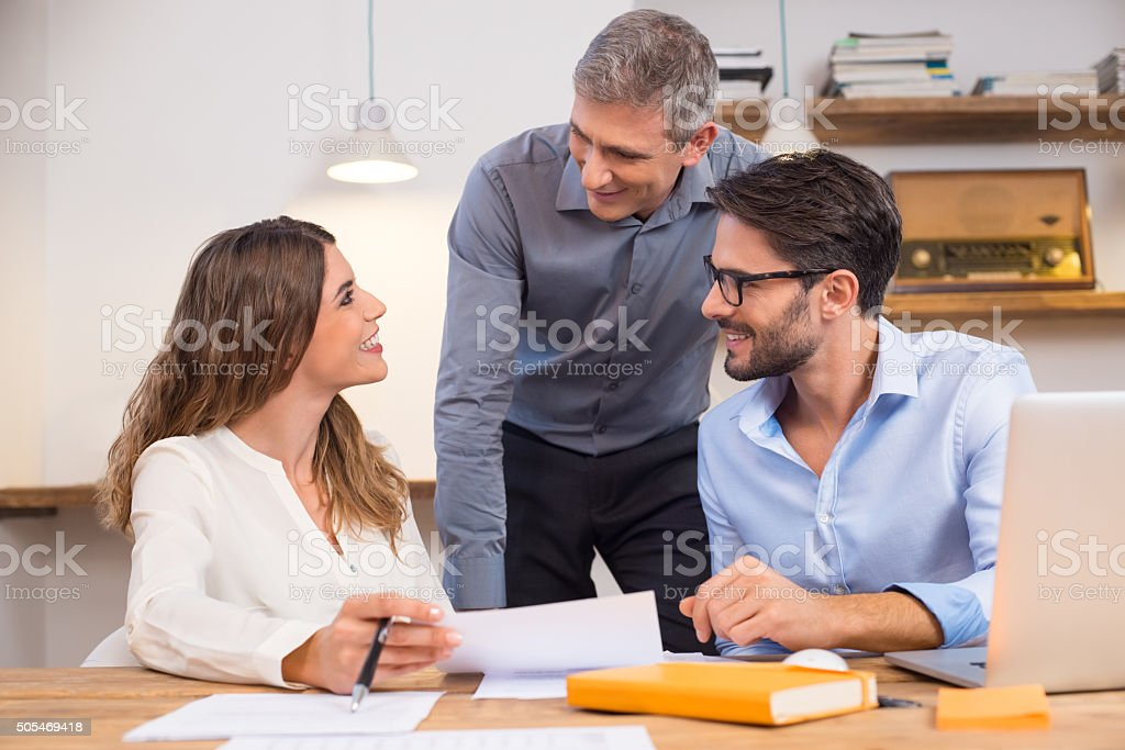 Support new employees stock photo