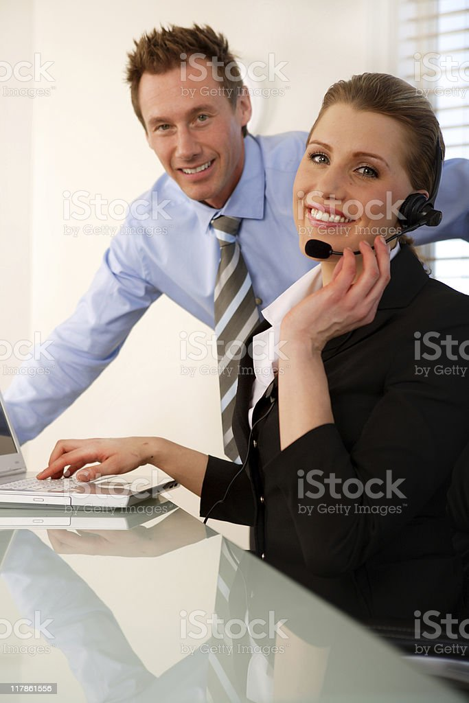 Support Operator royalty-free stock photo