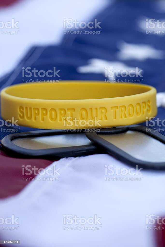 Support Our Soldiers royalty-free stock photo