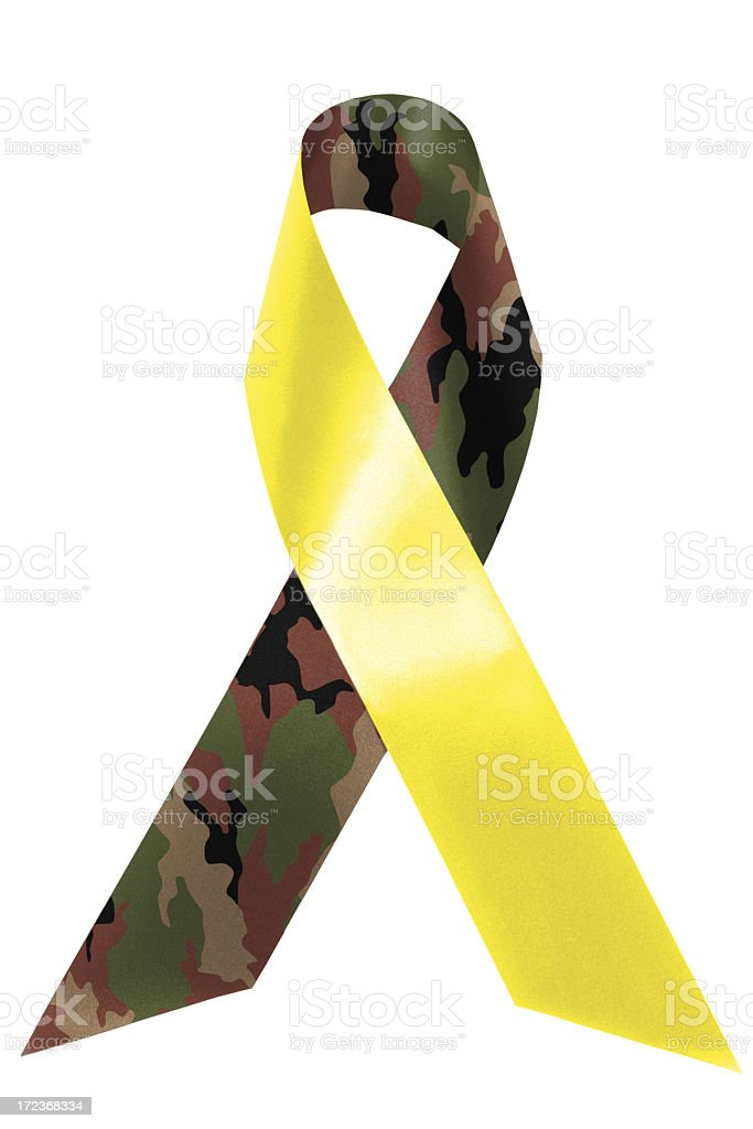 Support Our Troops awareness ribbon stock photo