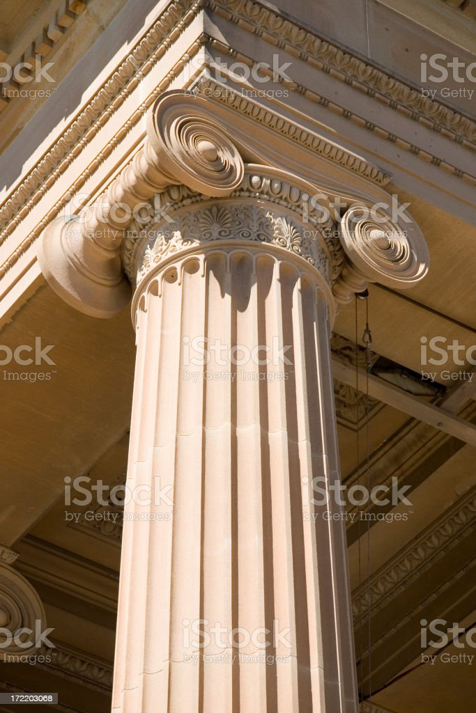 Support pillar stock photo