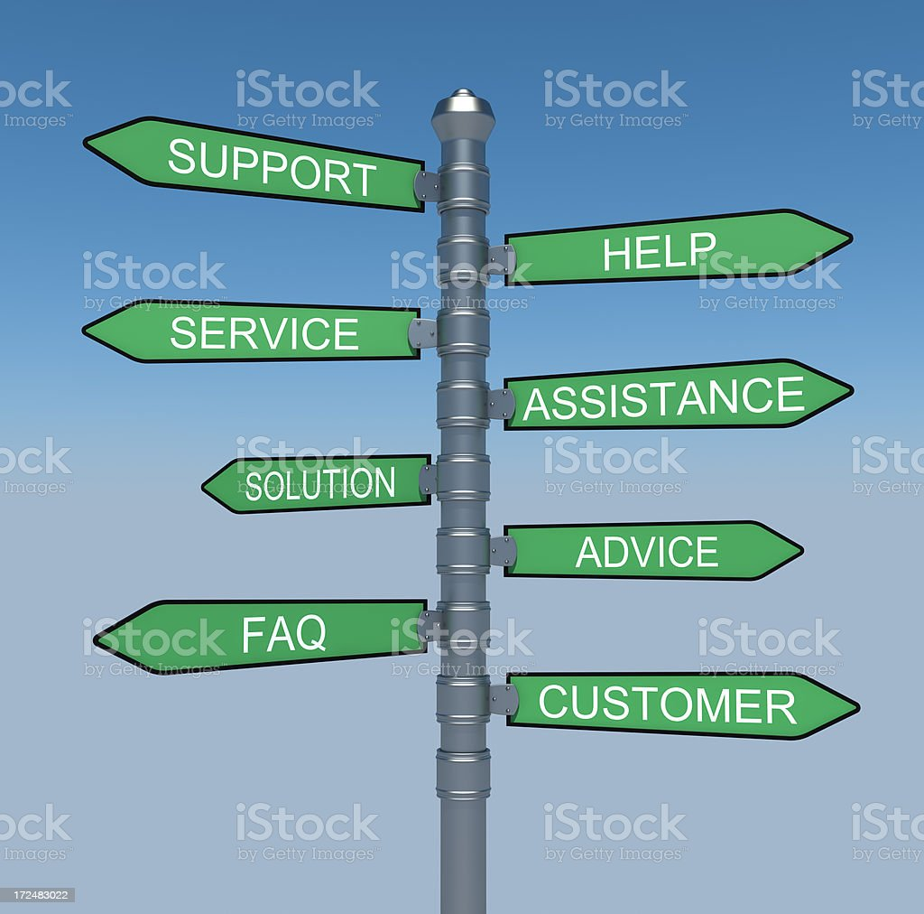 Support signpost royalty-free stock photo