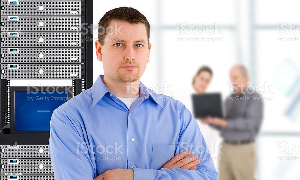 IT Support Team royalty-free stock photo