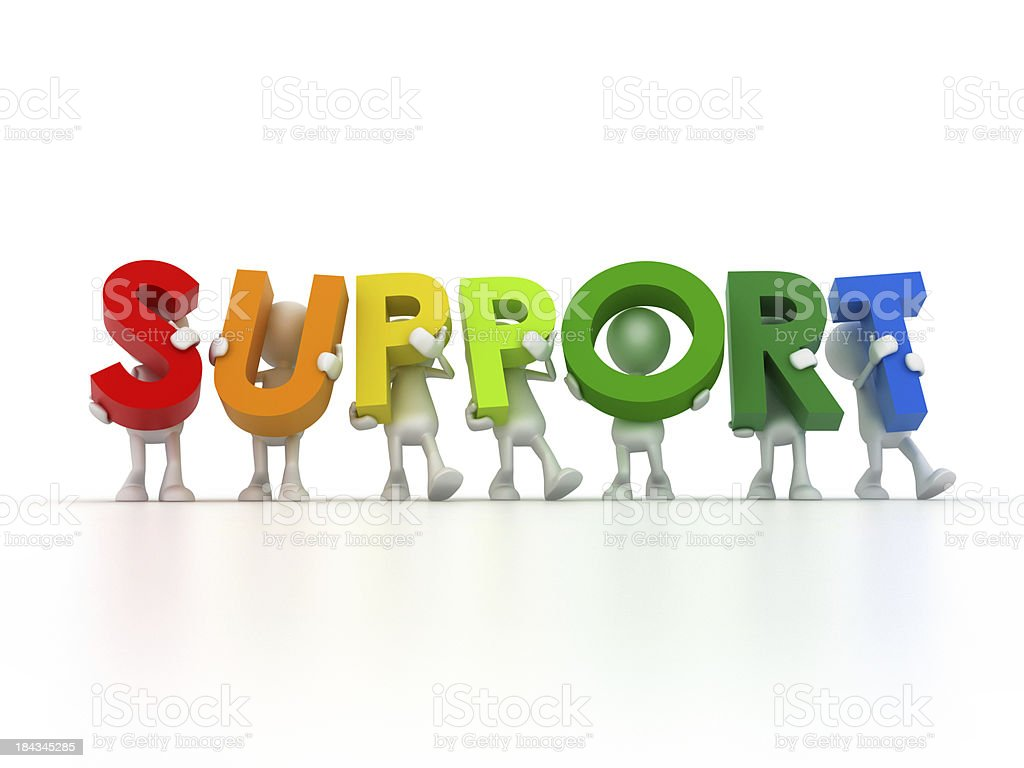 Support team royalty-free stock photo