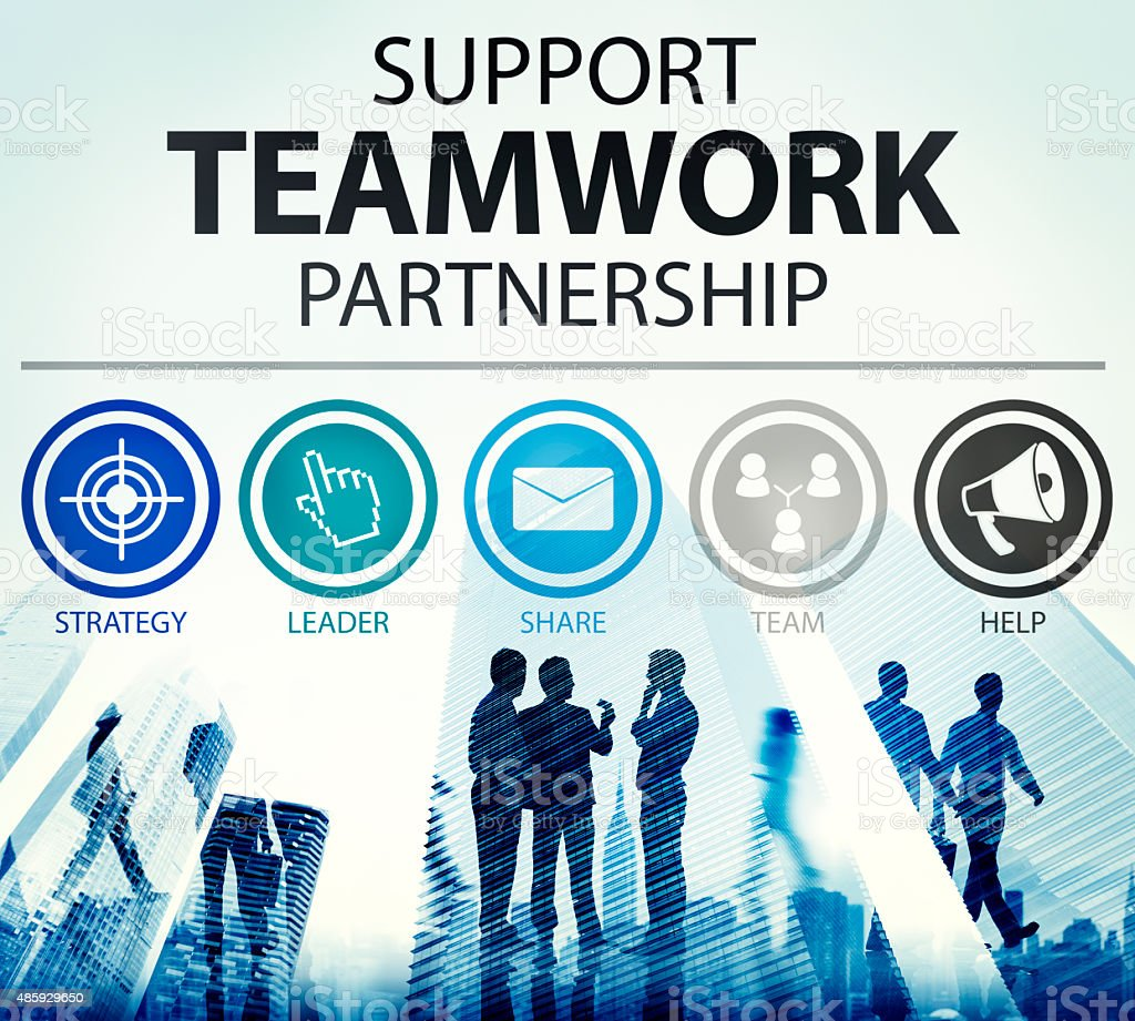 Support Teamwork Partnership Group Collaboration Concept stock photo