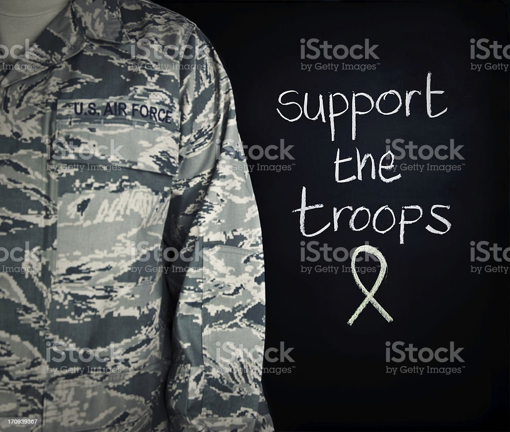 Support the Military royalty-free stock photo