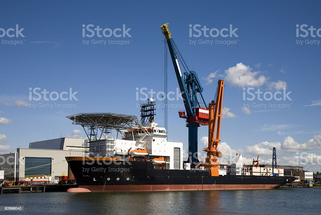 Support vessel royalty-free stock photo