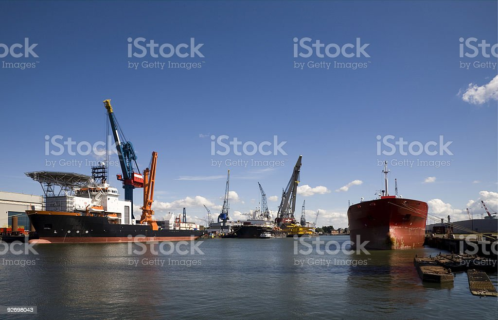 Support vessel stock photo