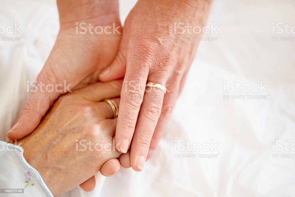 Support when you need it the most - Senior Health royalty-free stock photo
