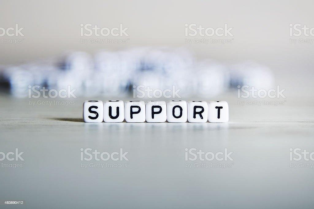 Support word concept stock photo