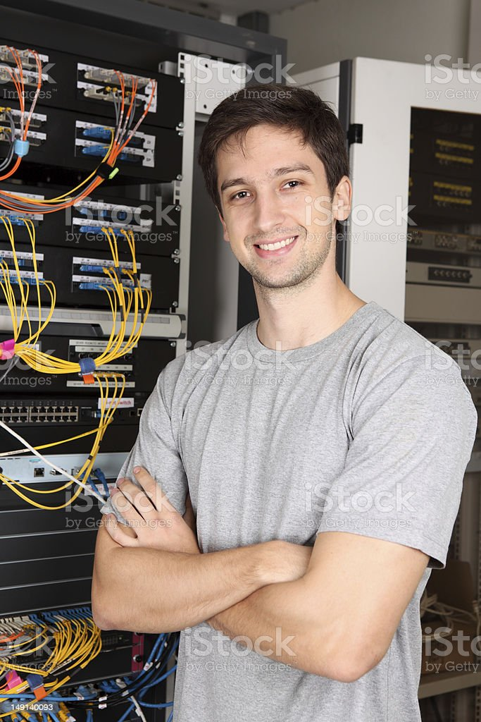 IT Support Worker stock photo