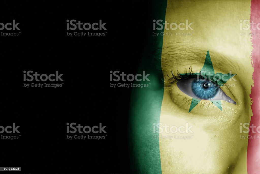 Supporter of Senegal stock photo