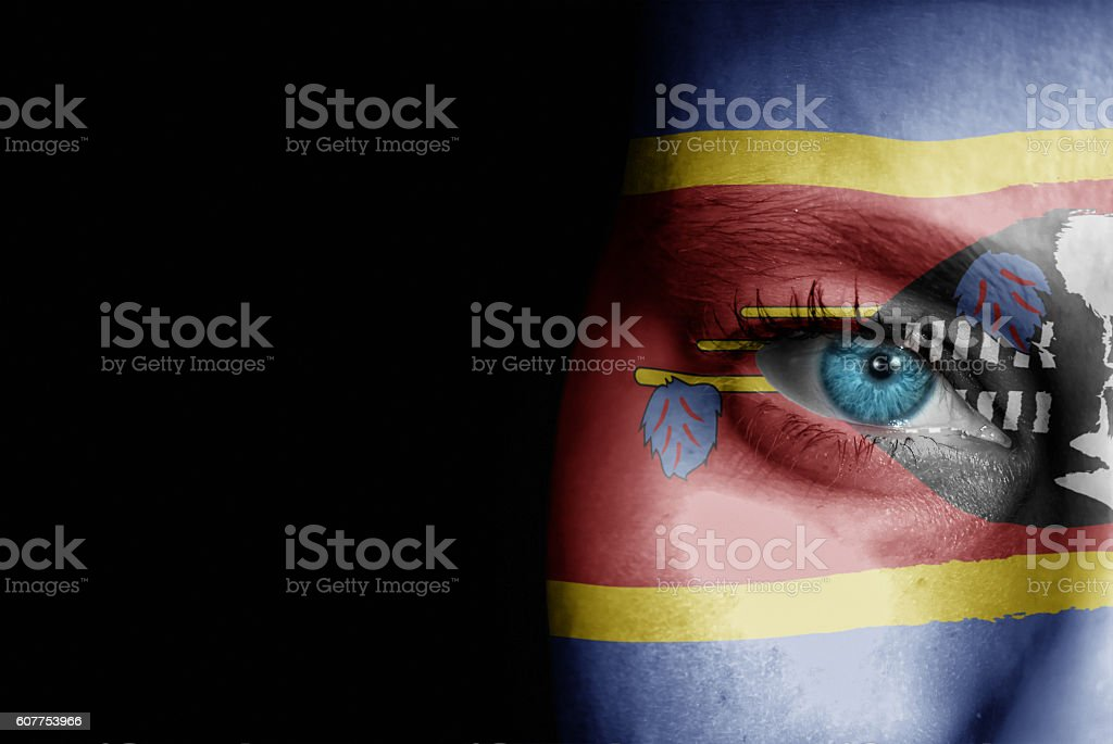 Supporter of Swaziland stock photo