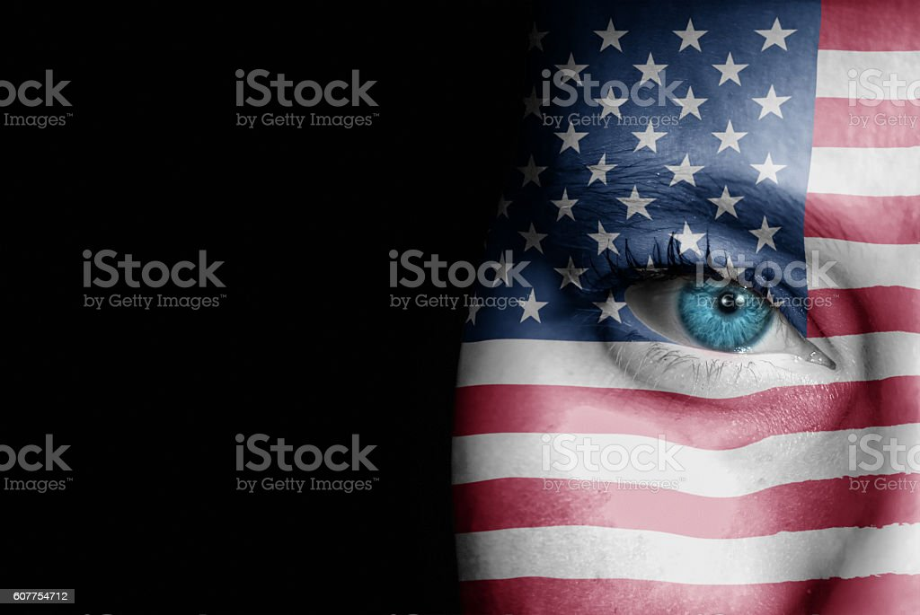 Supporter of United States of America stock photo